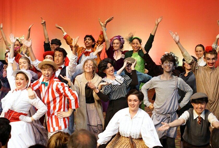 """San Dieguito Academy """"Mary Poppins"""" cast. Courtesy photo"""