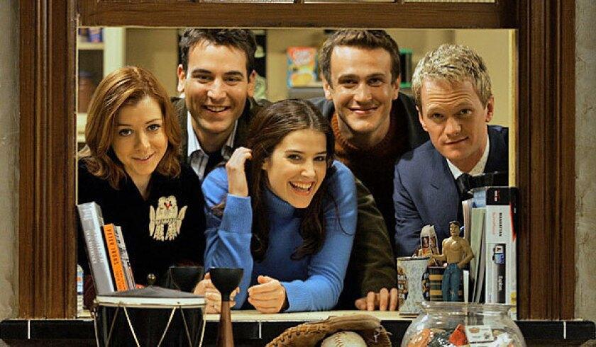 """How I Met Your Mother stars, from left, Alyson Hannigan, Josh Radnor, Cobie Smulders, Jason Segel and Neil Patrick Harris."