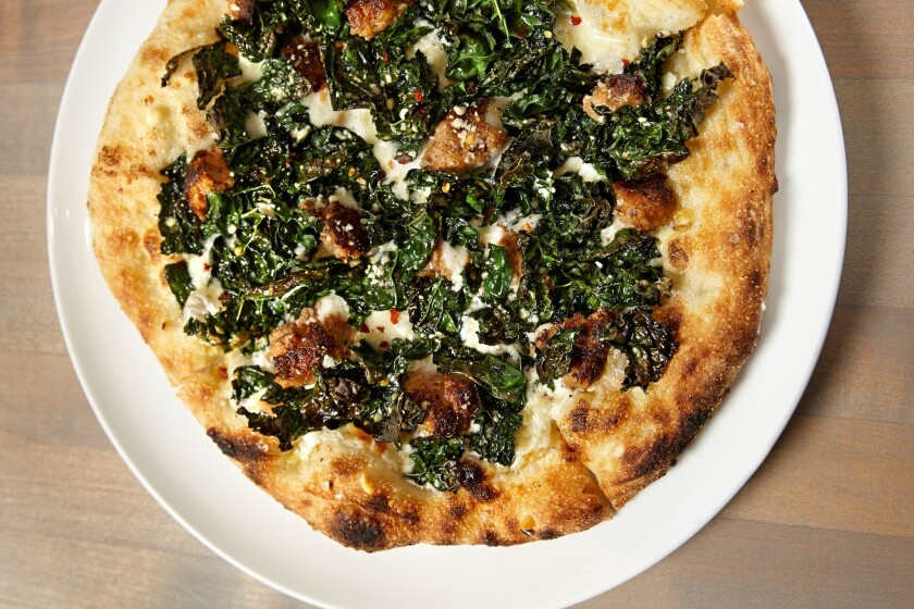 The fennel and sausage pizza at Love & Salt in Manhattan Beach.
