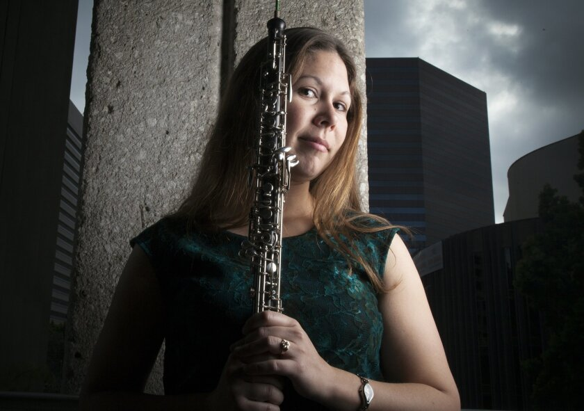 San Diego Symphony principal oboist Sarah Skuster.