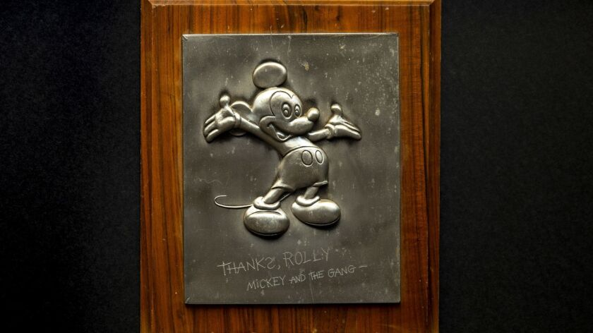 CARLSBAD,CA --WEDNESDAY, MAY 16, 2018--A plaque from the personal collection of Rolly Crump, 88, a D