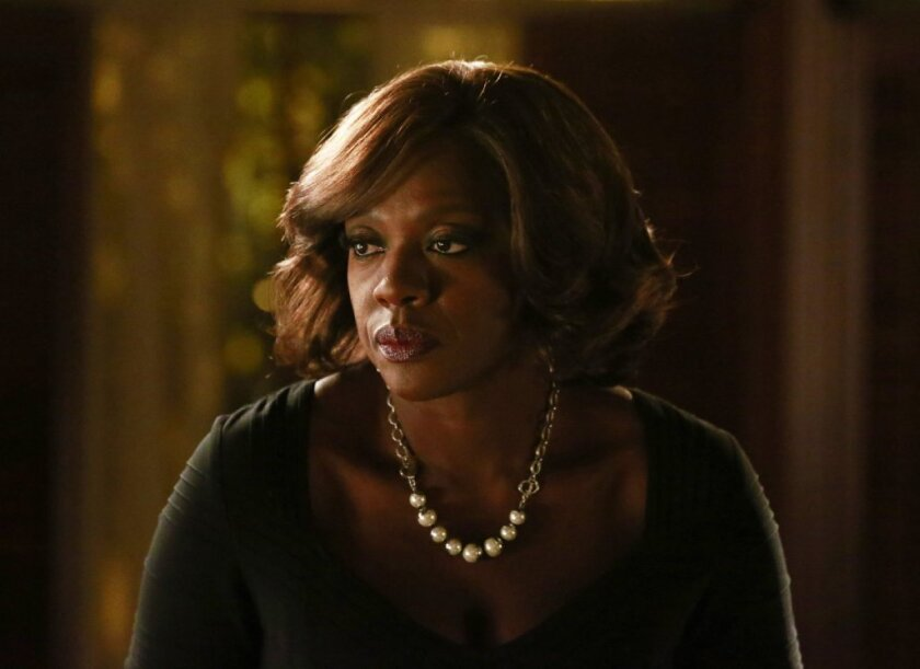 "Viola Davis in ""How to Get Away With Murder."" She is nominated in the Emmys' lead actress in a drama category."
