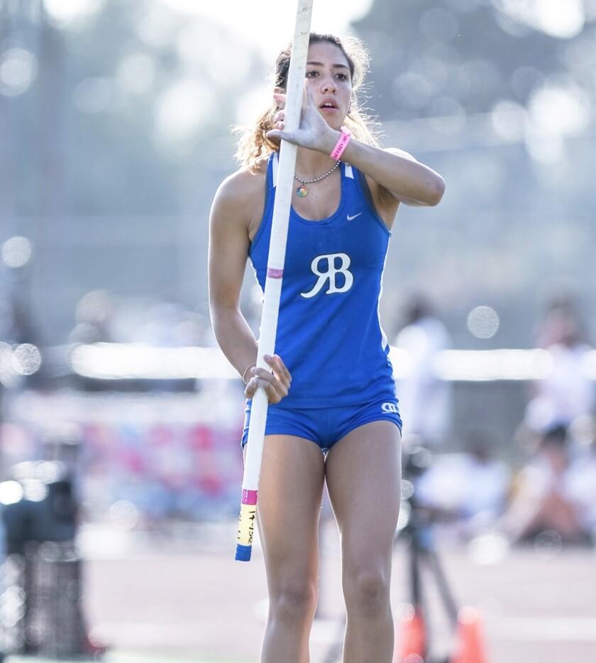 Rancho Bernardo High senior Ashley Callahan at the 2021 Arcadia Invitational.