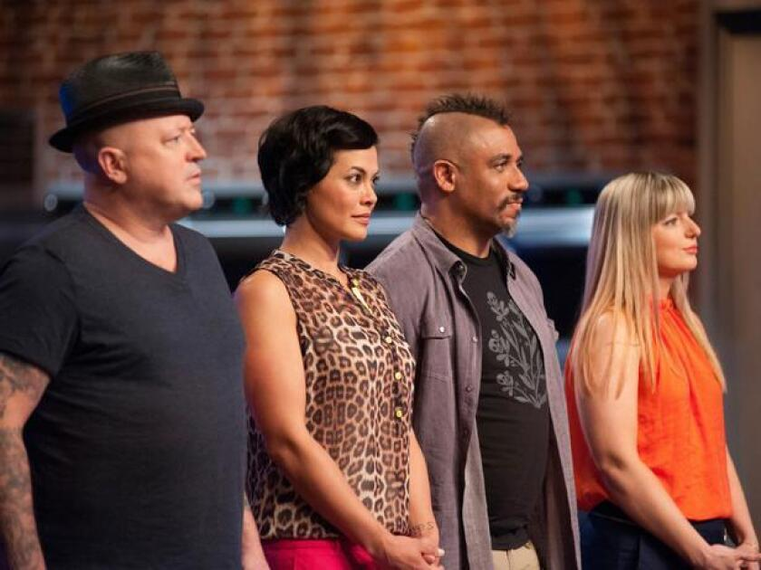 The 'Food Network Star' final four became the final three as Stacey, second from left, was eliminated.