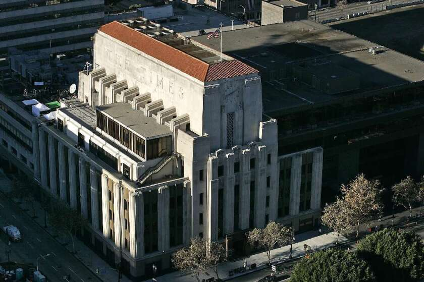 The Los Angeles Times in downtown L.A.