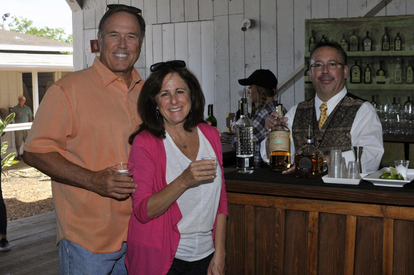 Max and Cindy Wuthrich, George Franceschi of Snake Oil Cocktail Co.