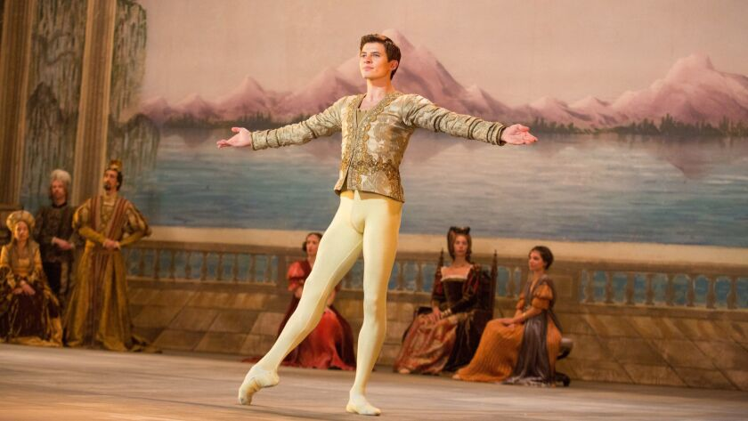 "Oleg Ivenko as Rudolf Nureyev in a scene from ""The White Crow."" Credit: Larry Horricks/ Sony Picture"