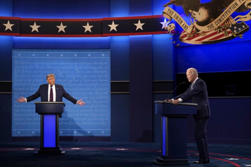 President  Trump and Joe Biden debate in Cleveland on Sept. 29