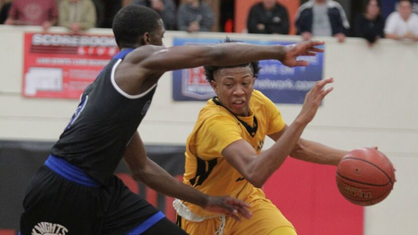 Mission Bay's Boogie Ellis (shown in an earlier game this season) had 16 points and five assists in the Bucs' win over St. Augustine on Tuesday.