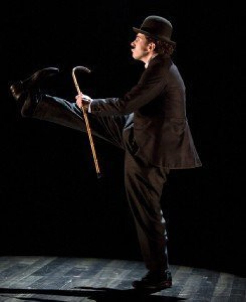 2013 Tony Award nominee Rob McClure in La Jolla Playhouse's 2010 world-premiere production, 'Limelight: the Story of Charlie Chaplin' (on Broadway as 'Chaplin: the Musical'). Photo by Craig Schwartz