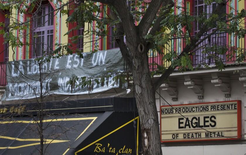 Eagles of Death Metal concert site in Paris