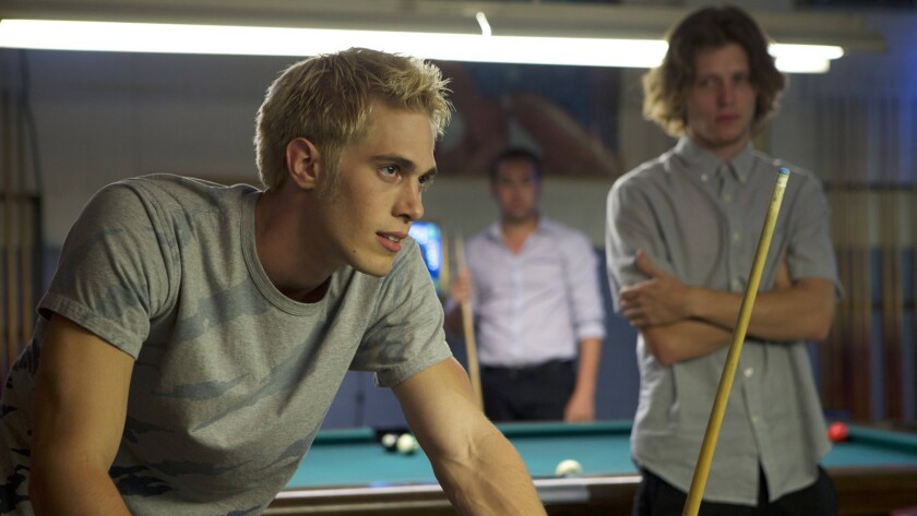 """Blake Jenner, left, and Nick Eversman in the movie """"Billy Boy."""""""