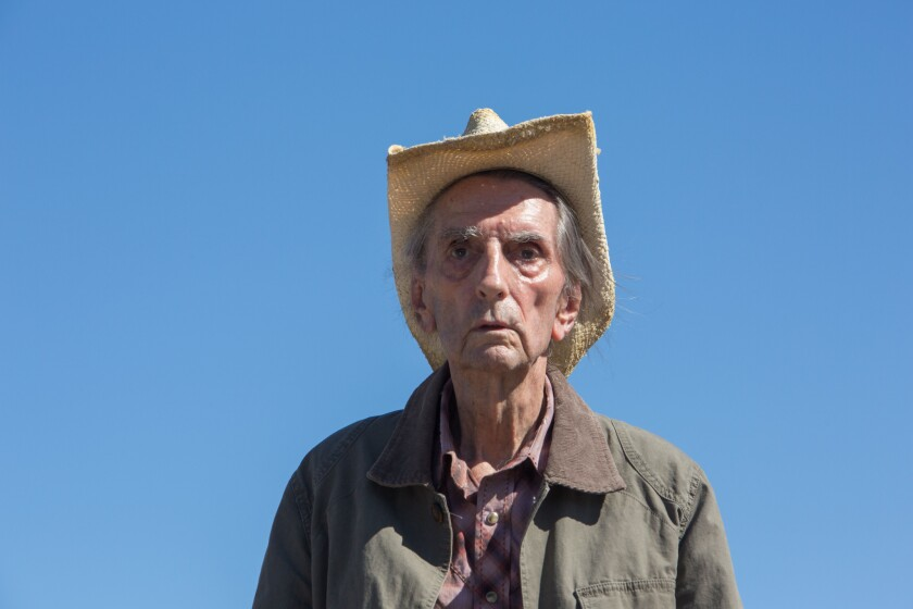 """Harry Dean Stanton in the upcoming release """"Lucky."""" In a six-decade career, Stanton appeared in a wide range of films, from Alfred Hitchcock's 1956 """"The Wrong Man"""" to John Hughes' 1986 """"Pretty in Pink."""" Along the way, he worked with noted directors such as David Lynch, Wim Wenders, John Carpenter and Francis Ford Coppola."""