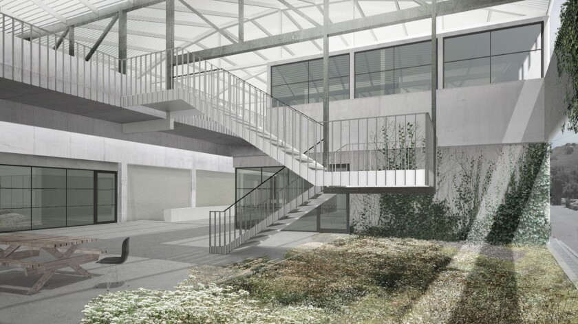 A rendering of the future graduate art studios at UCLA — which received a lead gift of $20 million from gallerist Margo Leavin.