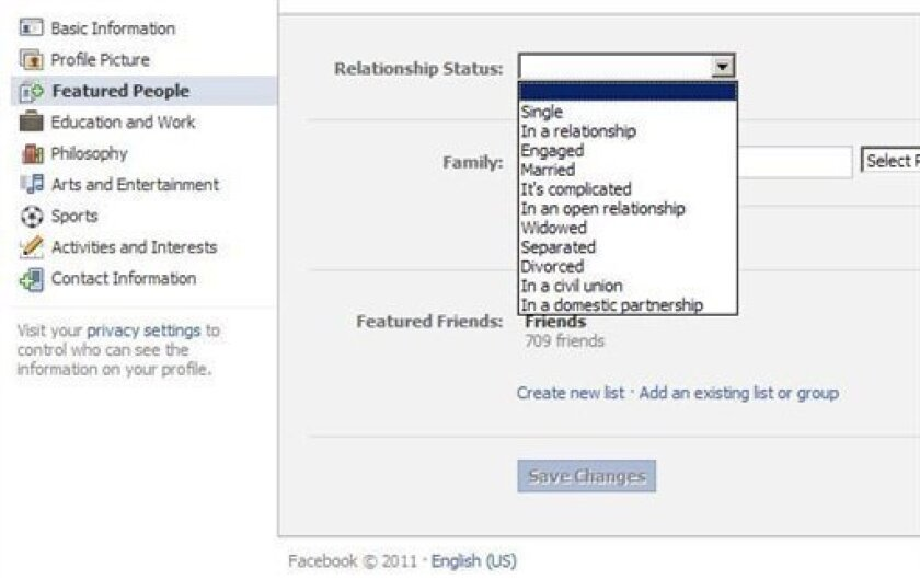 New Facebook status options applauded by gay users - The San