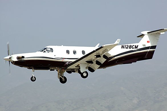 A day before it crashed in Montana, killing all 14 people on board, the single-engine turboprop Pilatus PC-12 airplane comes in for a landing at Redlands Municipal Airport.