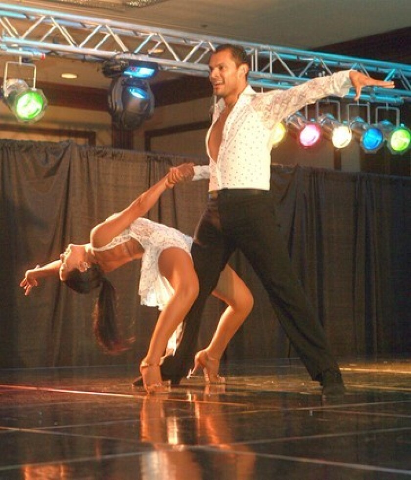 Dancers Christian Oviedo and Diana Sanchez compete this week.