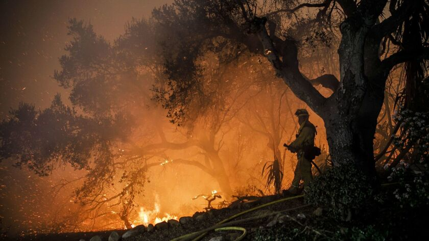 More than 1,000 structures were lost in the Thomas fire before it was fully contained on Jan. 12. Two people, including a state firefighter, were killed by the blaze.
