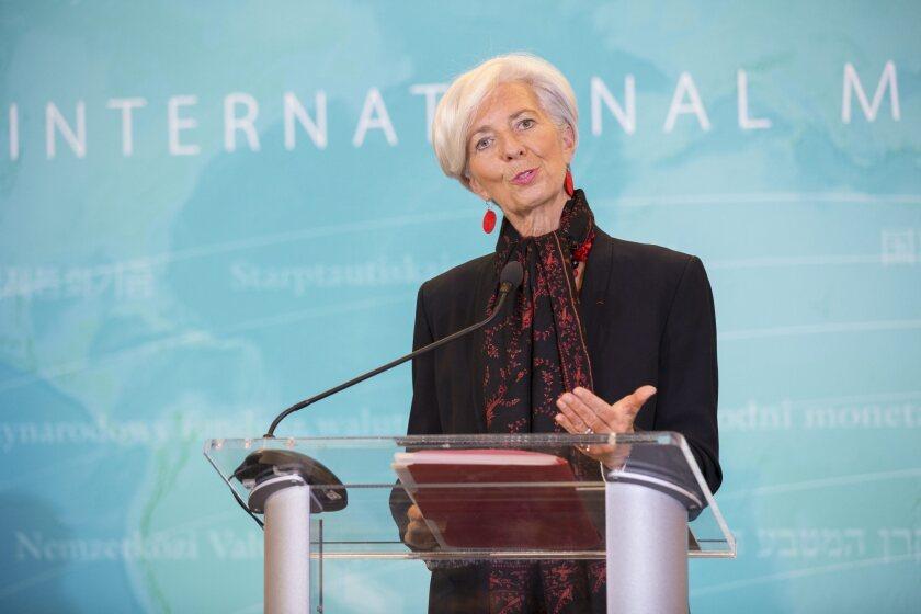 International Monetary Fund's Christine Lagarde