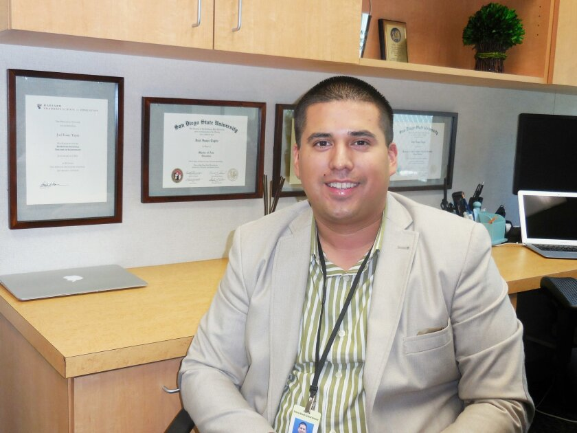 Joel Tapia is having an eventful year, which includes his appointment as principal of Solana Vista School.
