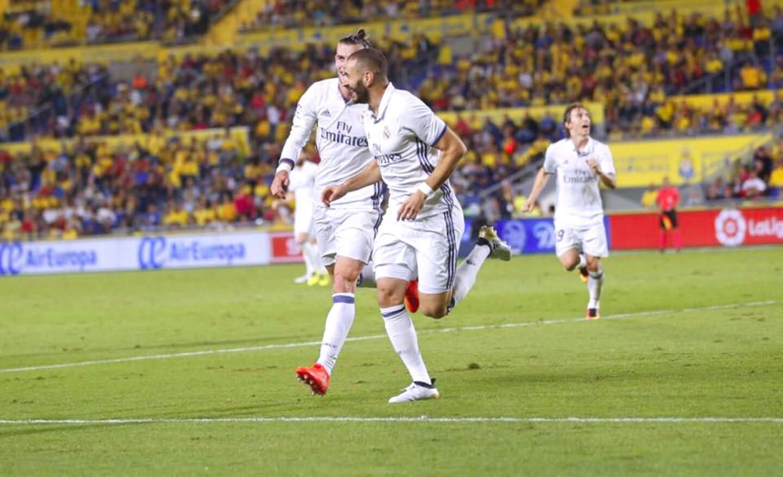 El líder Real Madrid solo pudo empatar 2-2 en su visita a Las Palmas, con goles de Marco Asensio y Karim Benzema a los 33 y 67 minutos, respectivamente.