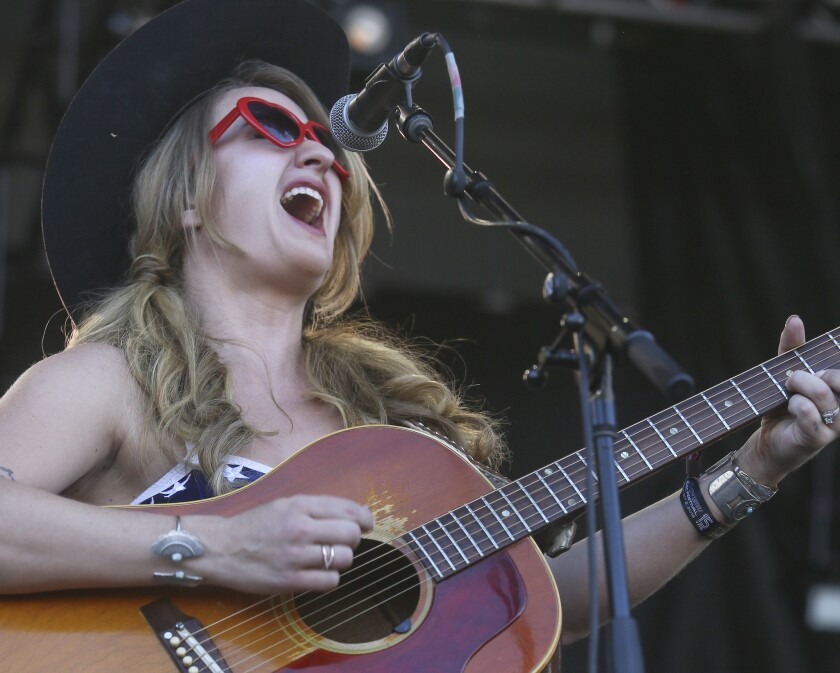 Country singer Margo Price shown performing Oct. 2 at the Austin City Limits Festival in Texas.