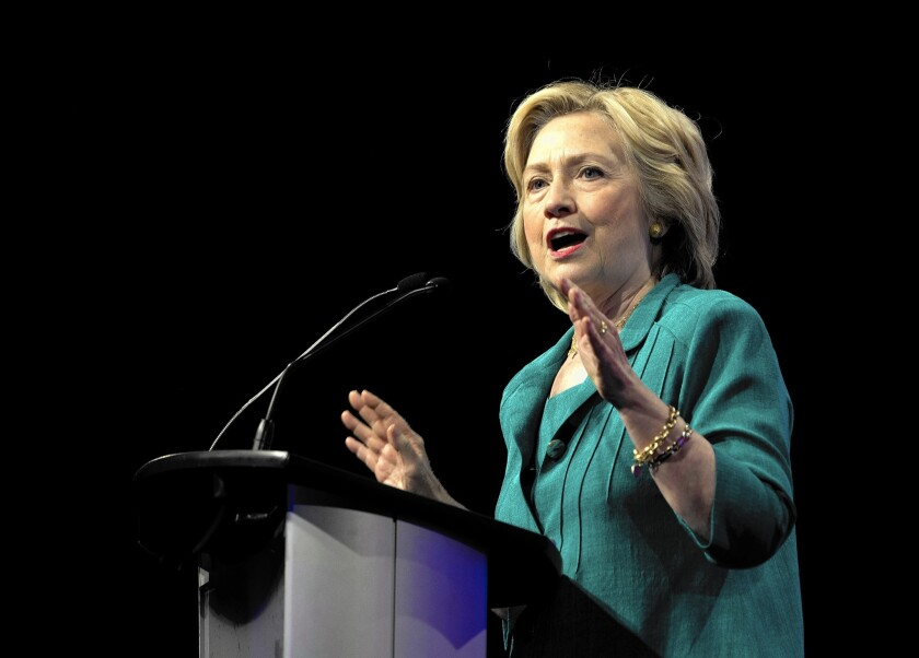Hillary Rodham Clinton is endorsed by Rep. Xavier Becerra