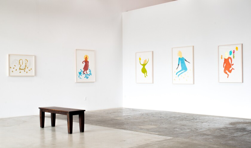 Installation view of Maureen Selwood's works at Rosamund Felsen