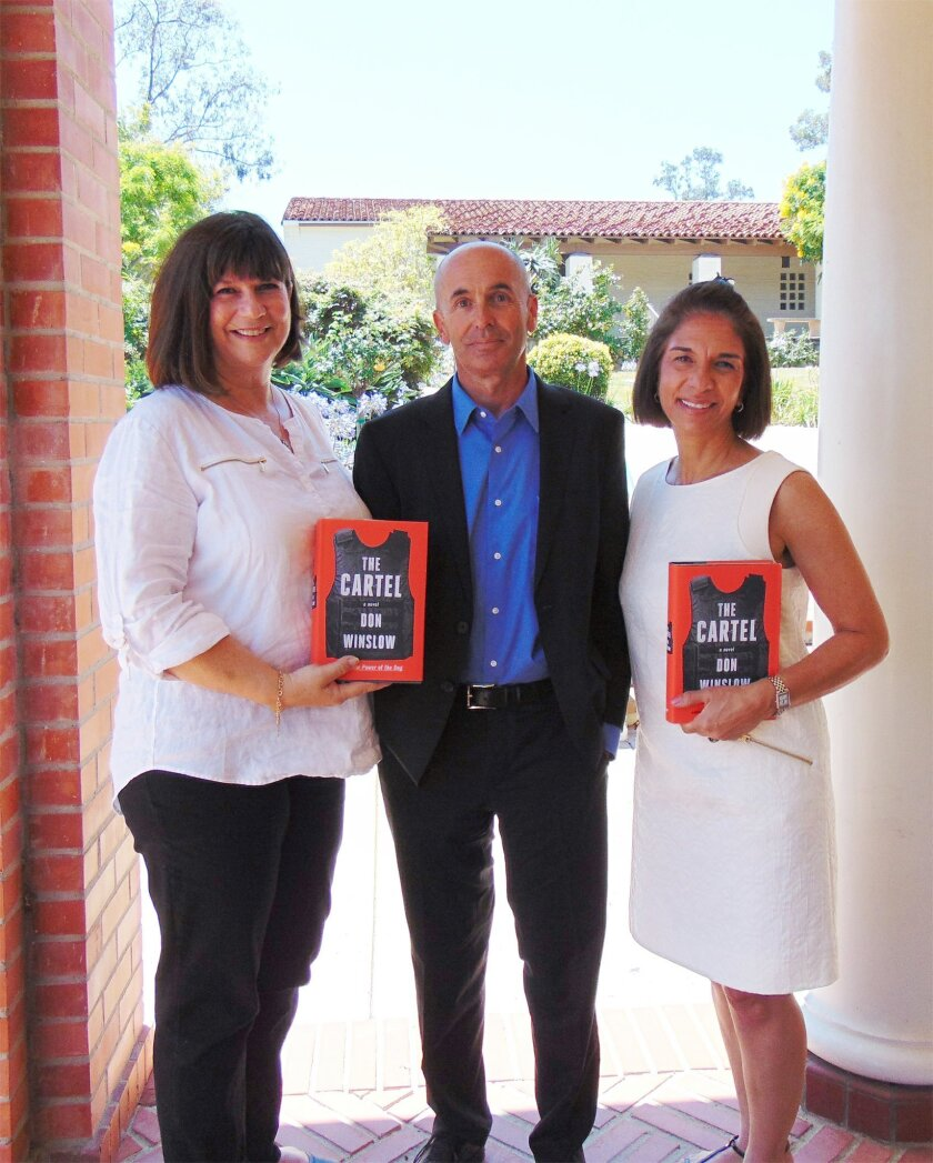 L-R: Julie Slavinsky, Don Winslow, Susan Appleby.
