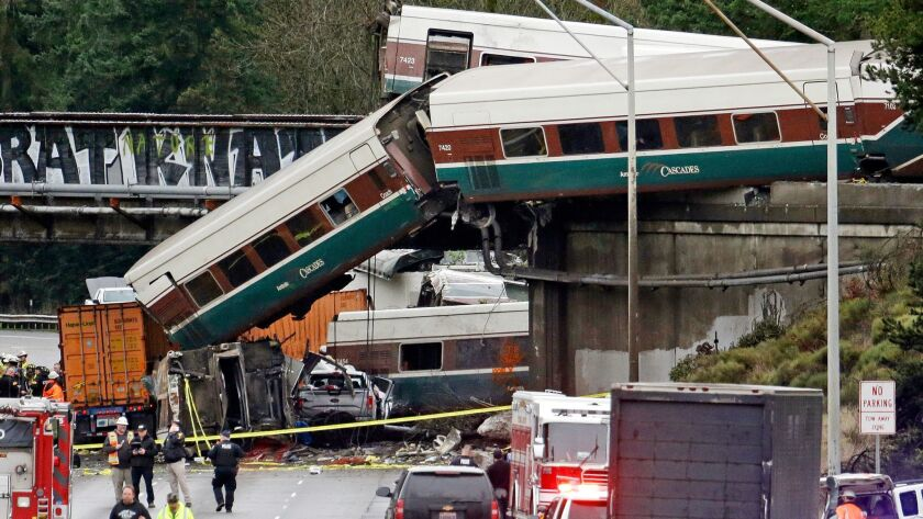 President Trump used the Dec. 18 fatal derailment of an Amtrak train in Washington state as a talking point to hype an infrastructure plan.