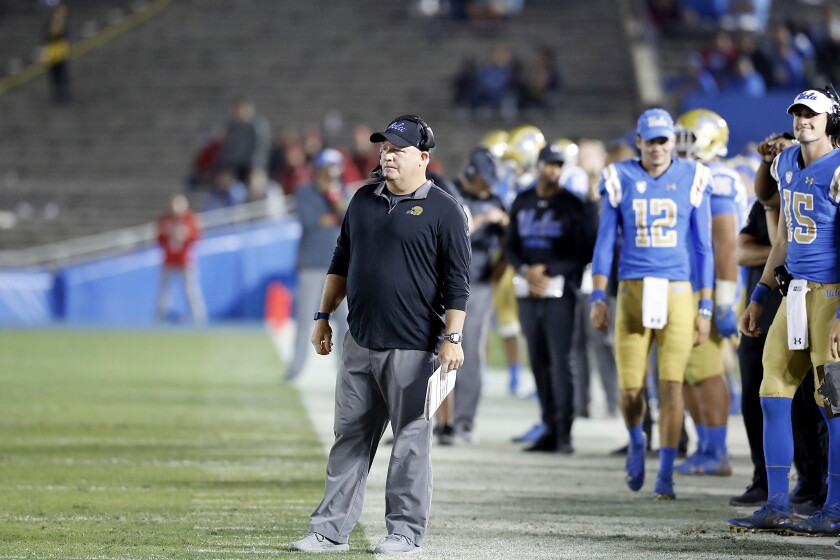 UCLA coach Chip Kelly says when it comes to recruiting, he is looking for players who fit the Bruins' system.