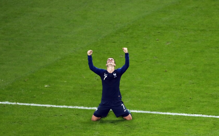 APphoto_Russia Soccer WCup Match Moments Day 22 Photo Gallery