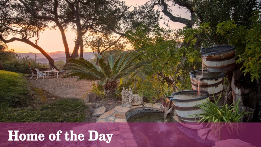 Views take in Lake Casitas and the Topa Topa Mountains at this $3.5-million retreat in Ojai.