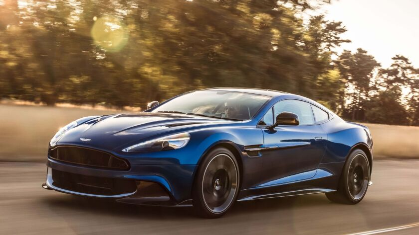 L A Auto Show 2016 Aston Martin Vanquish S Super Gt Car Los Angeles Times