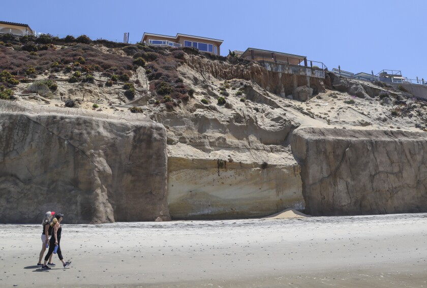 This is the section of bluff without a seawall in front of the home at 245 Pacific Avenue.