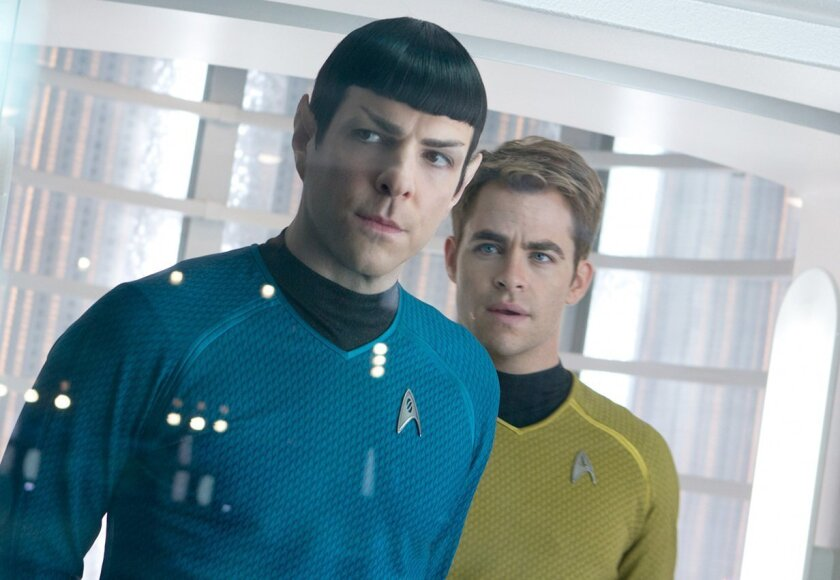 "Zachary Quinto and Chris Pine in ""Star Trek into Darkness."""