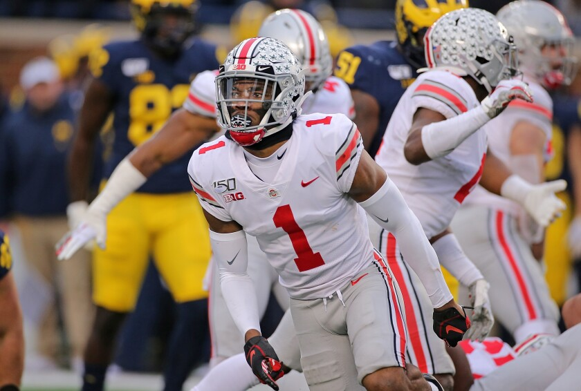 Ohio State cornerback Jeff Okudah could be a big help to the Lions' secondary.