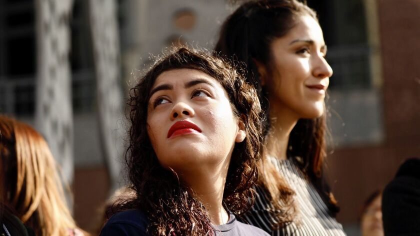 LOS ANGELES CA OCTOBER 30, 2018 -- Claudia Rueda, the 23-year-old immigration activist who made hea