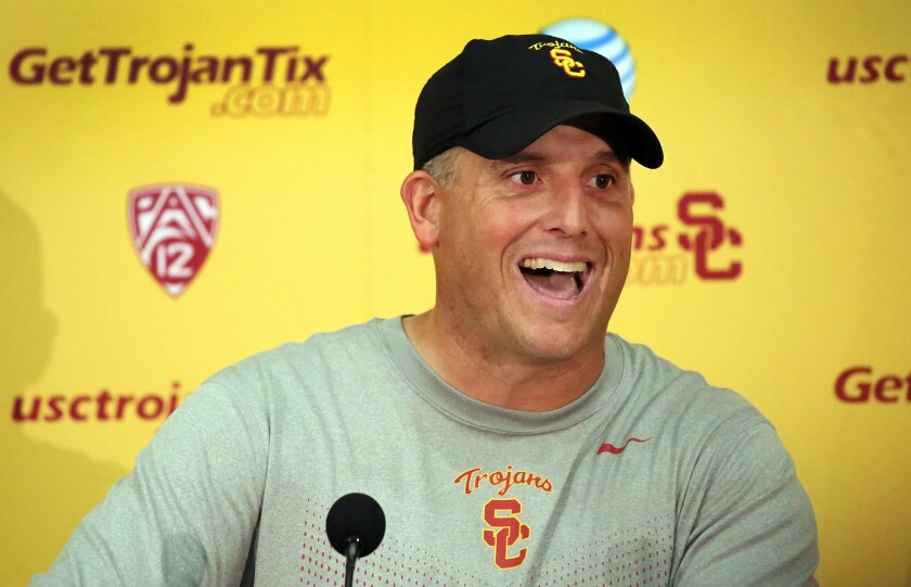The Sports Report: USC will keep Clay Helton