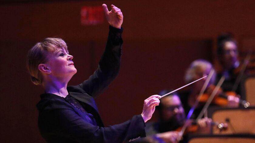 LOS ANGELES, CA - JANUARY 19, 2018 --Susanna Mälkki, the new principal guest conductor of the LA P
