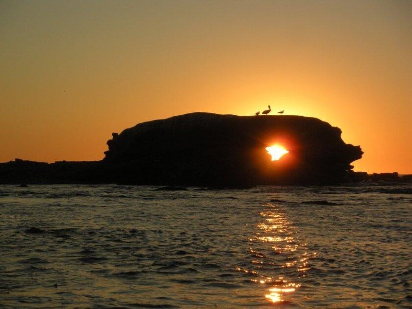 """""""Sunset Through Bird Rock"""" by Chris Cott"""