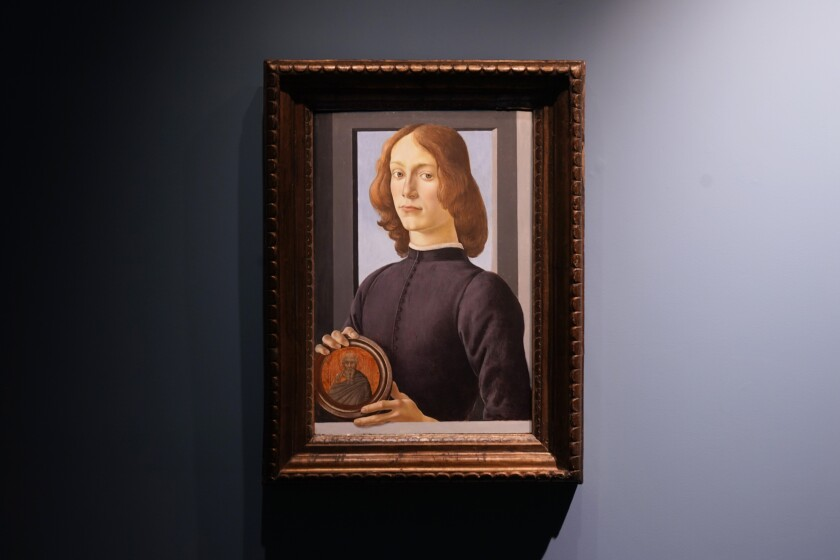 Sandro Botticelli's 15th century painting 'Young Man Holding a Roundel'