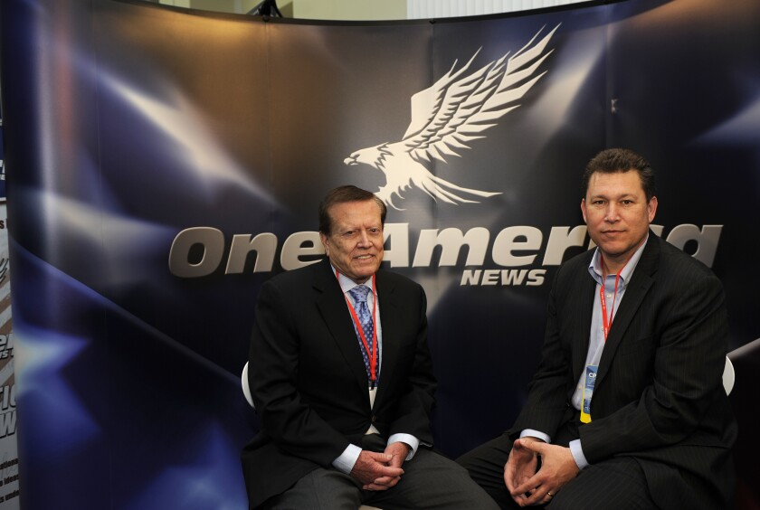 Robert Herring, left, and Charles Herring, founders of One America News Network in 2013.