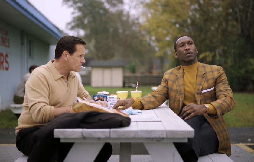 "Viggo Mortensen, left, and Mahershala Ali appear in a scene from ""Green Book,"" which won the best picture Oscar in 2019."