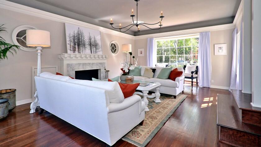 This 1937 home in Los Feliz was redone in gray tones by L.A. designer Joshua Cain of Saxony Design Build.