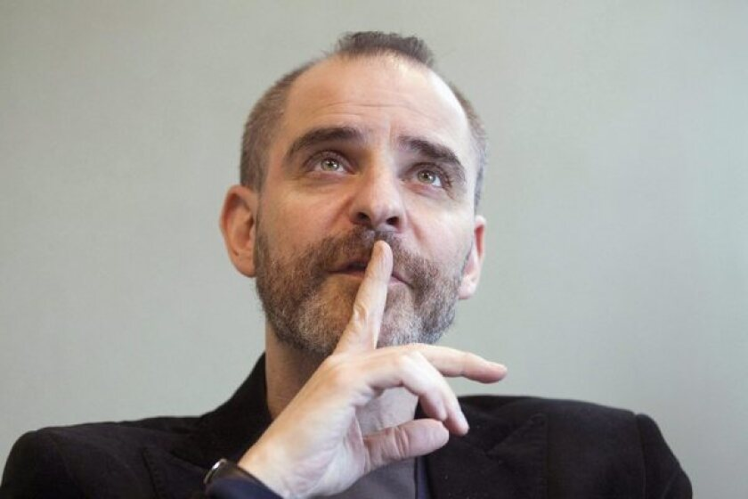 David Rakoff during an interview in Toronto.
