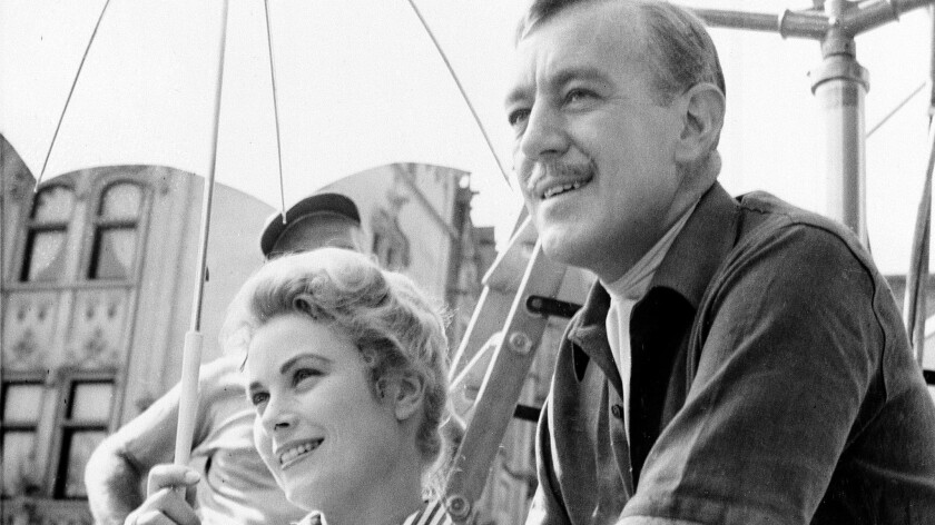 """Grace Kelly and Alec Guinness on location during filming of """"The Swan"""" in Asheville, N.C."""