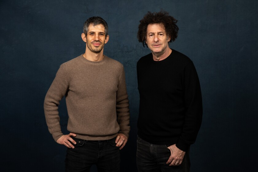 Gregory Kershaw, left, and Michael Dweck pose for a photo