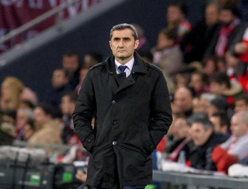 El entrenador del F.C Barcelona, Ernesto Valverde. EFE