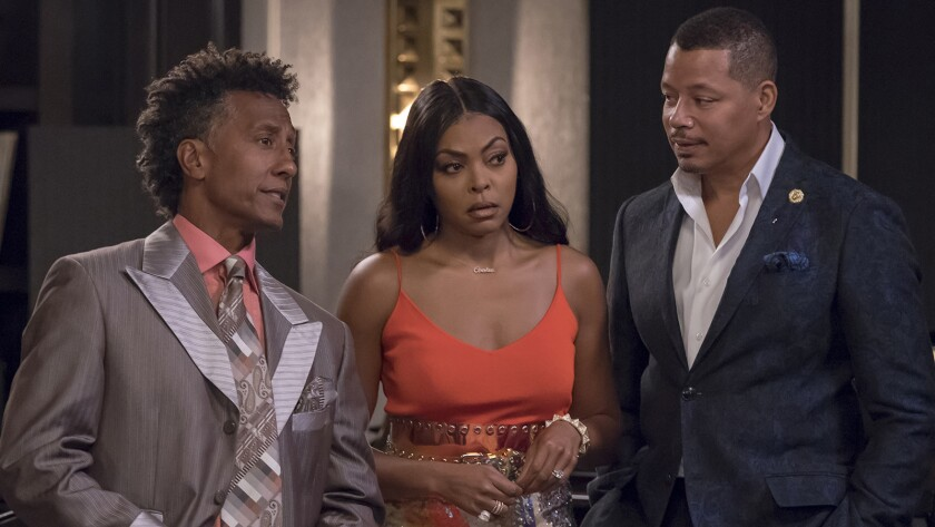"Andre Royo, left, Taraji P. Henson and Terrence Howard in ""Empire"" on Fox."